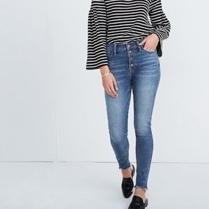 "CURRENT NEW Madewell 10"" high rise skinny jeans"